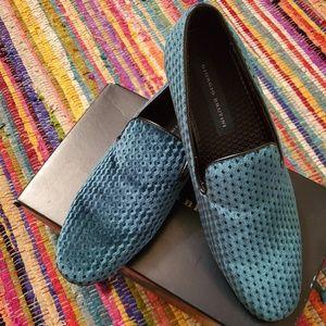Giorgio Brutini Emerald Green Velour Mens Loafers